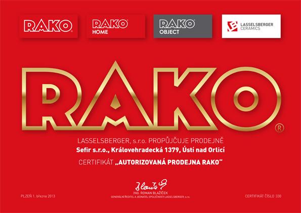 Certifikace Rako